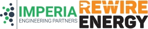 Image shows Imperia Engineering Partners & ReWire Energy logos. Imperia and ReWire are proud partners in energy efficiency projects. We aim to decrease energy waste and increase energy efficiency in residential, commercial, industrial, institutional, and governmental facilities.
