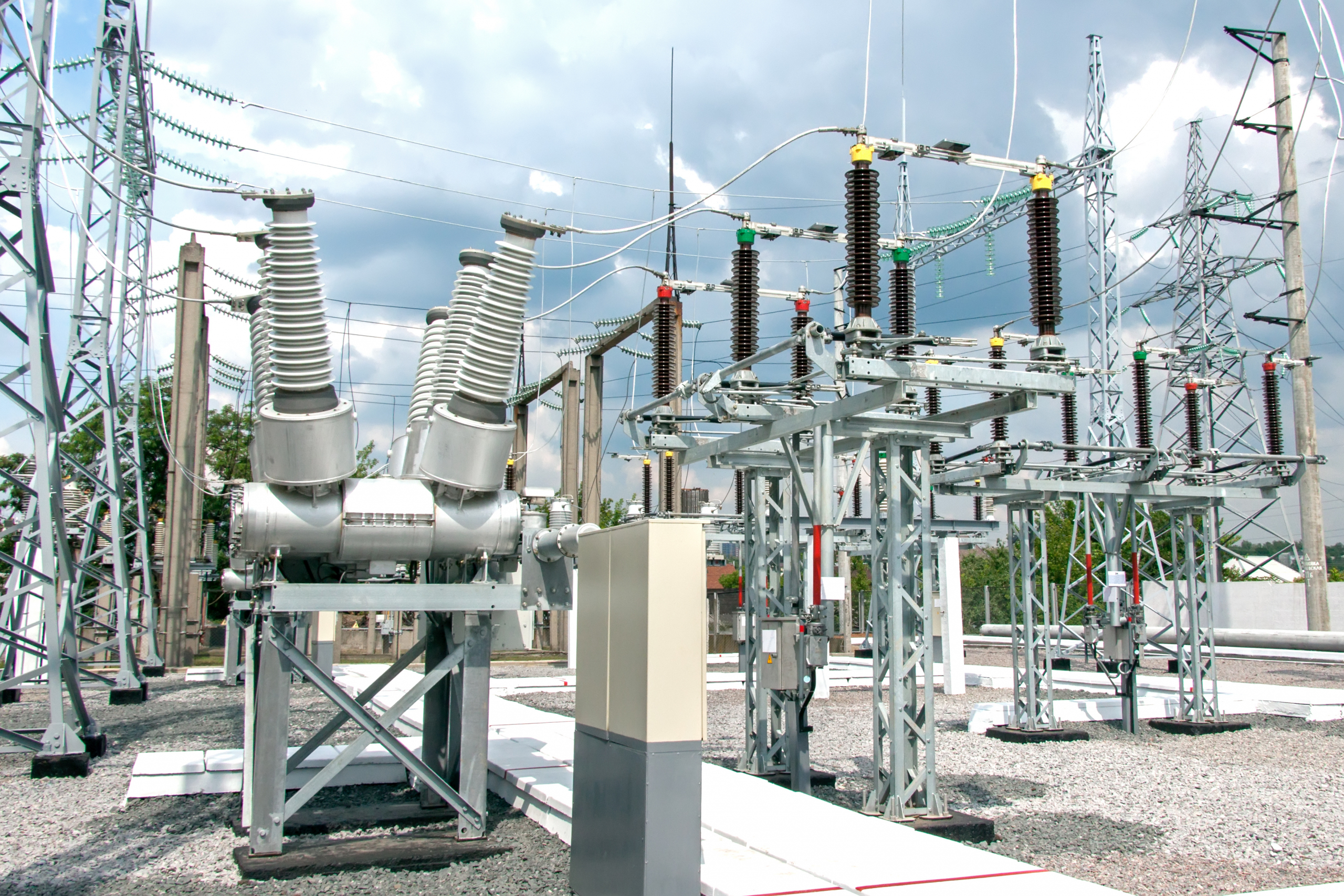 The image compliments the article text. It shows a substation as a visual example of one Imperia Engineering Partners recently designed for an aluminum plant. The project included transformers, breakers, switchgear, overhead transmission lines, and protection & control.